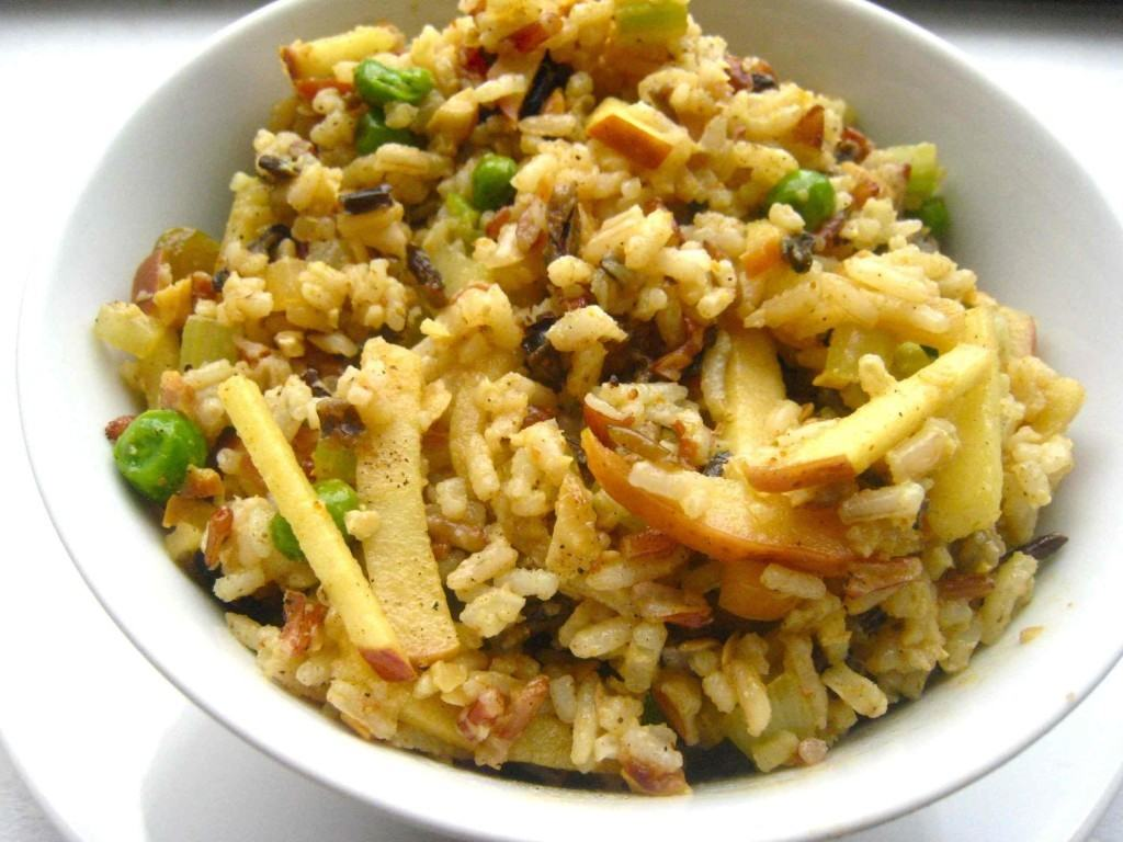 Curried Wild Rice and Apple Salad - Prepgreen