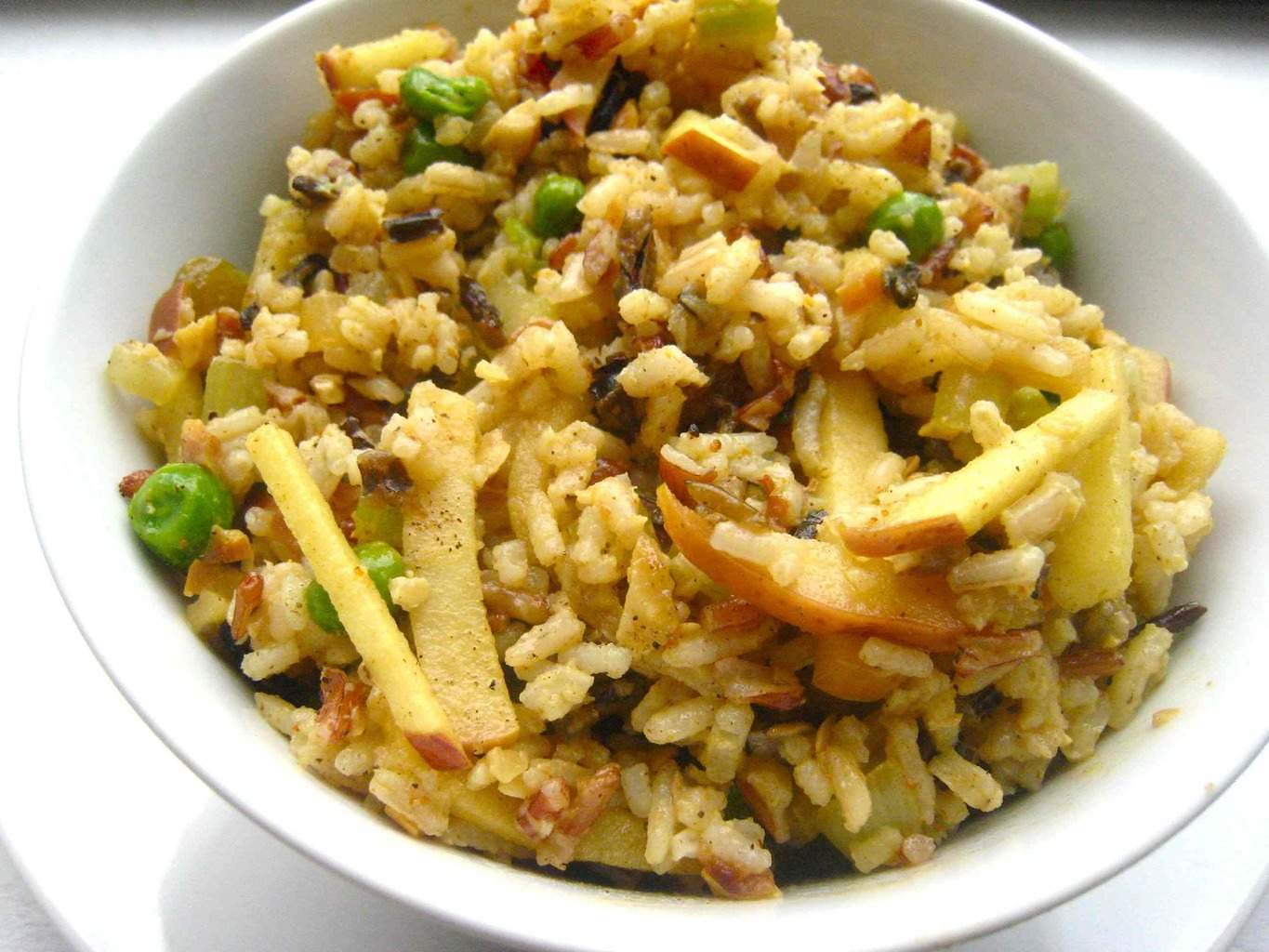 Curried Wild Rice and Apple Salad - Homemade Levity