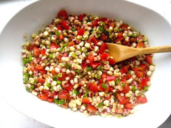 Corn Salad with Lemon Basil Dressing