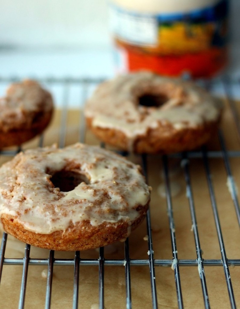 homemade applesauce doughnuts