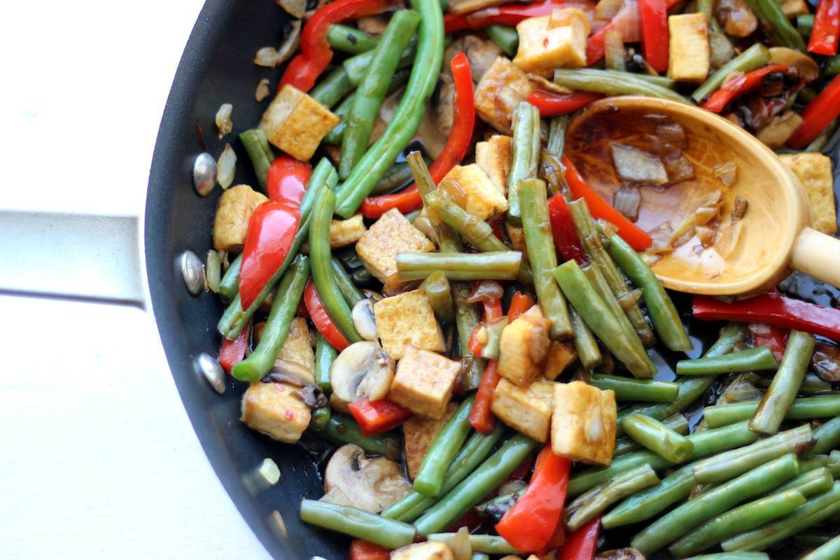 Sweet and Sour Green Bean Tofu Stir Fry