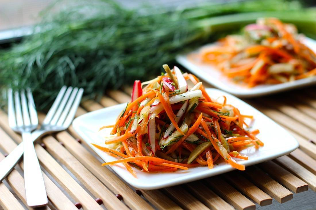 Carrot and Fennel Slaw with Olives