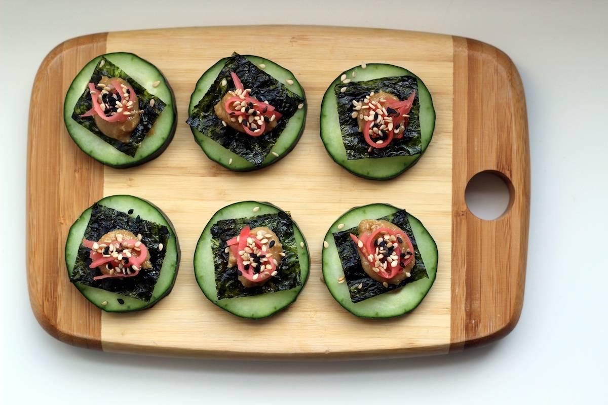 Cucumber Sesame Seaweed Snacks