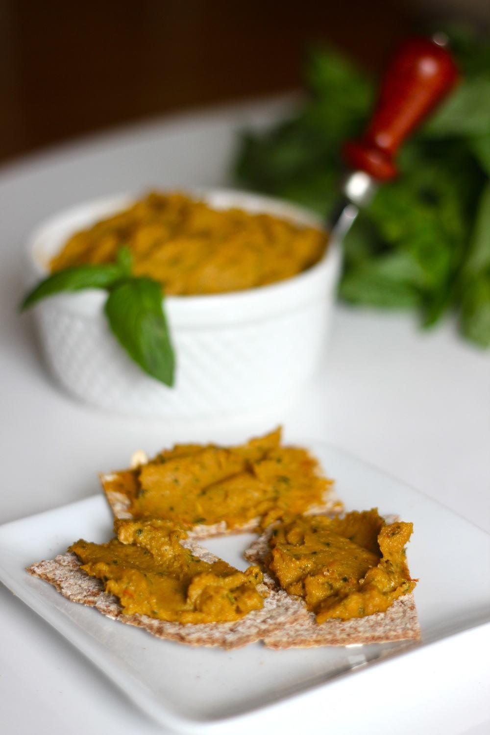 Basil Sundried Tomato Cashew Cheese