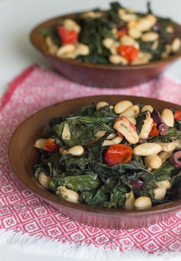 White Bean, Kale, Tomato Salad