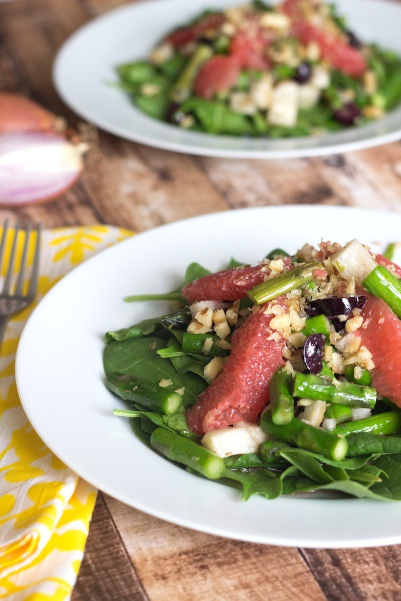 Jicama Salad With Asparagus & Grapefruit Dressing - Prepgreen