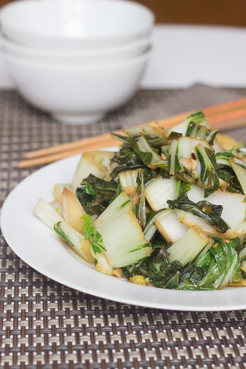 Stir Fried Bok Choy With Ginger and Garlic - Prepgreen