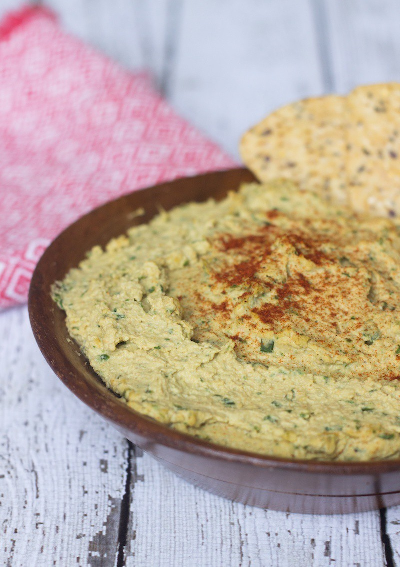 zesty artichoke combined with paprika and lemon in this spinach hummus ...