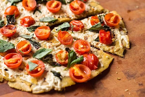 Tomato Basil Socca Pizza - Prepgreen