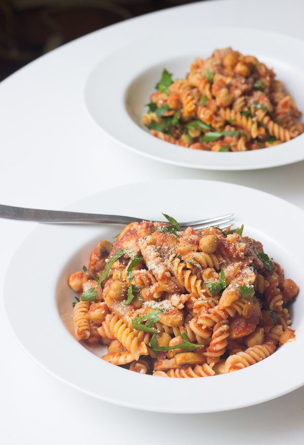 Savory Pasta With Chickpeas - Prepgreen