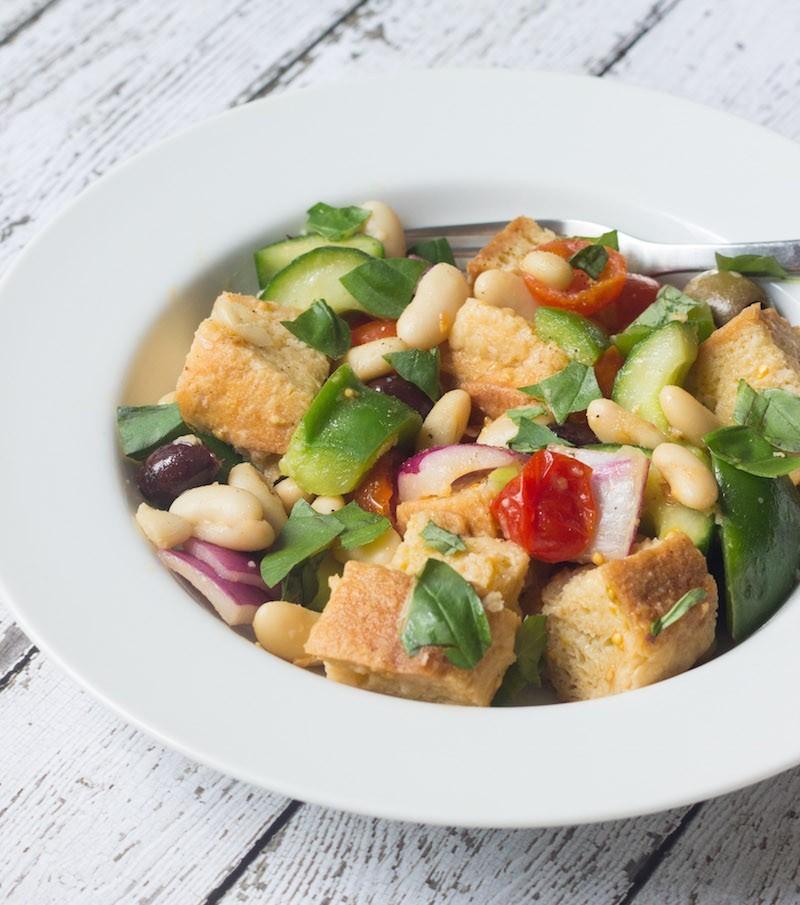 White Bean and Tomato Bread Salad - Homemade Levity